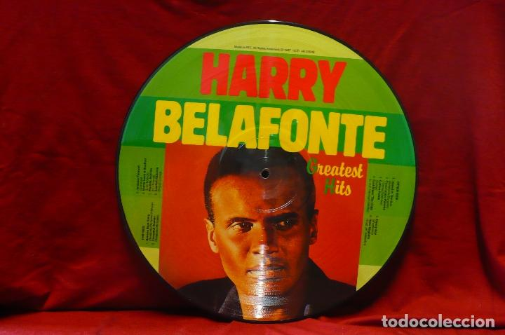 Discos de vinilo: harry belafonte - greatest hits, calypso, picture disc, 1987, temas en descripcion. - Foto 2 - 77915813