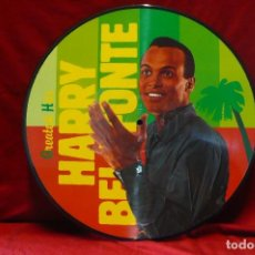Discos de vinilo: HARRY BELAFONTE - GREATEST HITS, CALYPSO, PICTURE DISC, 1987, TEMAS EN DESCRIPCION.. Lote 77916329