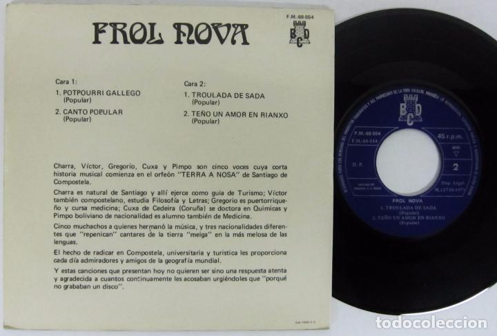 Discos de vinilo: FROL NOVA / TERRA A NOSA - POTPOURRI GALLEGO - EP - BCD 1975 - Foto 2 - 77923929