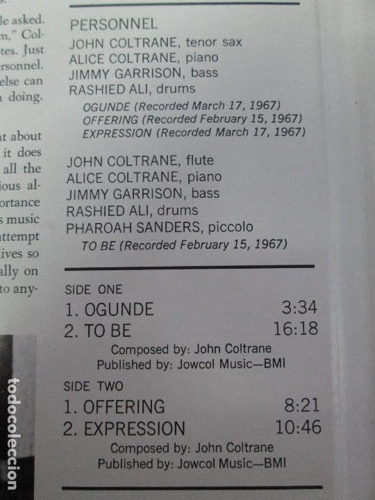 Discos de vinilo: EXPRESSION JOHN COLTRANE. DISCO VINILO. VER FOTOGRAFIAS ADJUNTAS - Foto 4 - 77935109