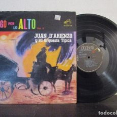 Discos de vinilo: TANGO MILONGA POR LO ALTO JUAN DARIENZO D ARIENZO Y SU ORQUESTA TIPICA RCA LP T89 VG.. Lote 77935621