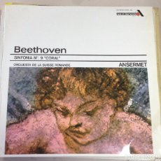 Discos de vinilo: LP. BEETHOVEN. SINFONIA Nº 9. CORAL. ORQUESTA DE LA SUISSE ROMANDE. ANSERMET.. Lote 77989917