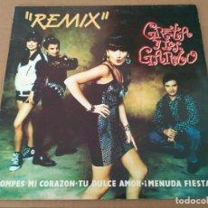Discos de vinilo: GRETA Y LOS GARBO - REMIX. Lote 78038821