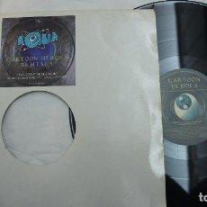 Discos de vinilo: AQUA - CARTOON HEROES REMIXES - MADE IN ITALY. Lote 78049693