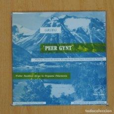 Discos de vinilo: PEER GYNT - SUITE N 1 / N 2 - SINGLE. Lote 78052610