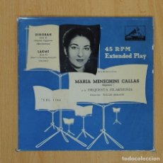 Discos de vinilo: MARIA MENEGHINI CALLAS - DINORAH / LAKME - SINGLE. Lote 78052789