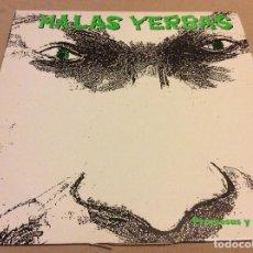 Discos de vinilo: MALAS YERBAS. PROMESAS Y PALABRAS. MAXISINGLE PROMOCIONAL. 1991. Lote 78053329