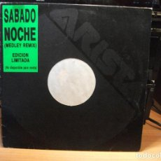 Discos de vinilo: SUGAR HILL GANG & OTHERS SABADO NOCHE MAXI SPAIN 1991 PDELUXE . Lote 78066885