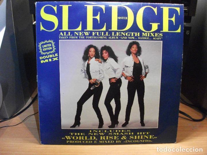SISTER SLEDGE WORLD, RISE & SHINE ............. MAXI ITALIA 1992 PDELUXE (Música - Discos de Vinilo - Maxi Singles - Funk, Soul y Black Music)