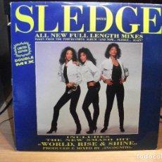Discos de vinilo: SISTER SLEDGE WORLD, RISE & SHINE ............. MAXI ITALIA 1992 PDELUXE . Lote 78068045