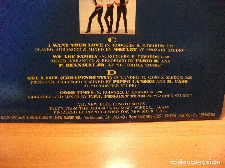Discos de vinilo: SISTER SLEDGE WORLD, RISE & SHINE ............. MAXI ITALIA 1992 PDELUXE - Foto 3 - 78068045