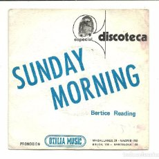 Discos de vinilo: SINGLE - BERTICE READING - SUNDAY MORNING / LEAN ON ME - CBS 1974 PROMO. Lote 78080005