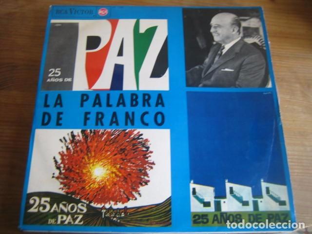 25 AÑOS DE PAZ - LA PALABRA DE FRANCO - SUPER RARO LP RCA 1964 (Música - Discos - LP Vinilo - Otros estilos)