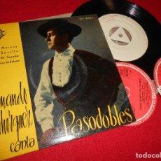 Discos de vinilo: ARMANDO BOHORQUEZ CANTA PASADOBLES MARIA MORENA/...Y SEVILLA/+2 EP 1958 PROMO TEST PRESSING . Lote 78102993