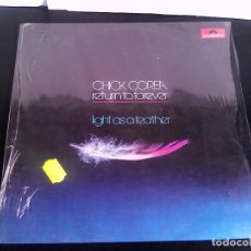 Discos de vinilo: CHICK COREA AND RETURN TO FOREVER ?**LIGHT AS A FEATHER ** EDICIÓN SPAIN 1973 POLYDOR **COMO NUEVO . Lote 78104981