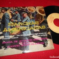 Discos de vinilo: MARCHAS AMERICANAS BANDA DE AVIACION ESPAÑOLA DIR. MANUEL GOMEZ DE ARRIBA +5 EP 1960 MONTILLA. Lote 253768590