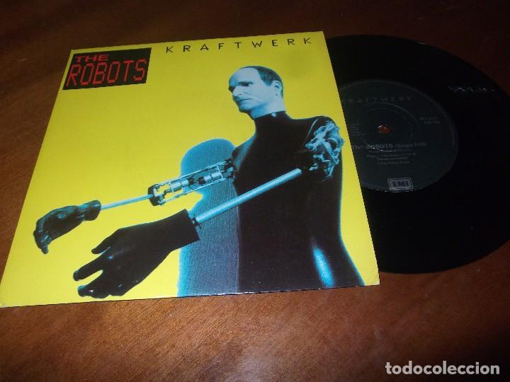 KRAFTWERK THE ROBOTS/ROBOTRONIK. SINGLE 1991 EMI -EXCELENTE COMO NUEVO- (Música - Discos de Vinilo - Singles - Pop - Rock Internacional de los 80)