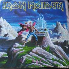 Discos de vinilo: MAXI SINGLE IRON MAIDEN - RUN TO THE HILLS (LIVE) - EMI UK 1985 VG. Lote 78130421