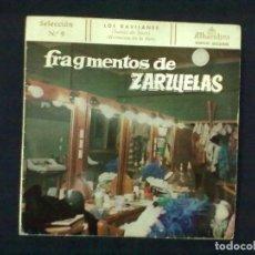 Discos de vinilo: FRAGMENTOS DE ZARZUELAS SELECCION 9 LOS GAVILANES. Lote 78145573