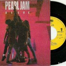 Discos de vinilo: PEARL JAM. ALIVE (VINILO SINGLE 1991). Lote 78153337