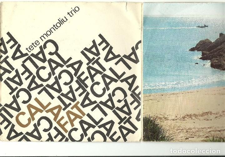 Discos de vinilo: TETE MONTOLIU TRIO. Calafat (On the green dolphin street....) (vinilo ep 1966) - Foto 2 - 78156149