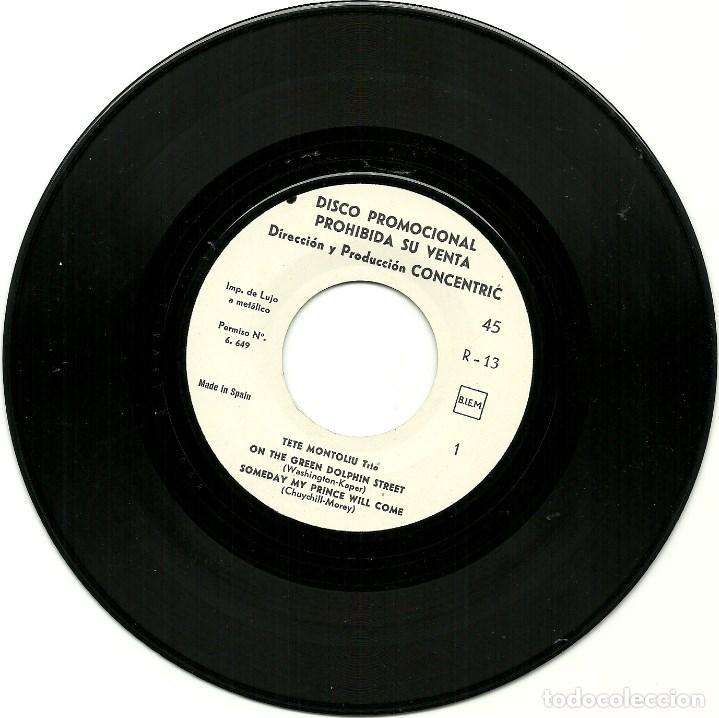 Discos de vinilo: TETE MONTOLIU TRIO. Calafat (On the green dolphin street....) (vinilo ep 1966) - Foto 4 - 78156149