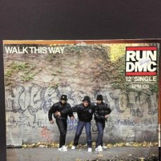Discos de vinilo: MAXI SINGLE RUN DMC - WALK THIS WAY 1986. Lote 78163493