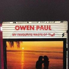 Discos de vinilo: MAXI SINGLE OWEN PAUL - MY FAVOURITE WASTE OF TIME 1986. Lote 78164305