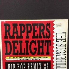 Discos de vinilo: MAXI SINGLE THE SUGARHILL GANG - RAPPERS DELIGHT HIP HOP REMIX '89. Lote 78166373