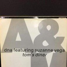 Discos de vinilo: MAXI SINGLE DNA FEAT. SUZANNE VEGA - TOMS DINER 1990. Lote 78167953
