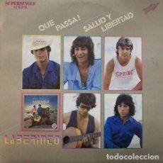 Discos de vinilo: LABERINTO QUE PASSA - MAXI SINGLE 45 PROMO GYPSY ROCK RUMBAS SONIDO CAÑO ROTO. Lote 78170245