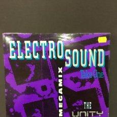 Discos de vinilo: MAXI SINGLE THE UNITY MIXERS - ELECTROSOUND MASTERMIX TAKE 1. Lote 78170401