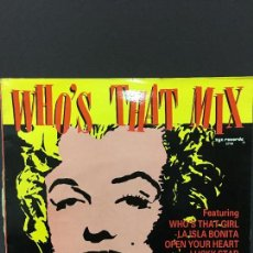 Discos de vinilo: MAXI SINGLE WHOS THAT MIX - THIS YEARS BLONDE 1987. Lote 78173853