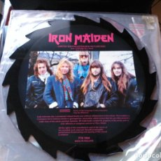 Discos de vinilo: 12'' IRON MAIDEN - LIMITED EDITION INTERVIEW PICTURE DISC - TELL TALES UK 1988 VG+. Lote 78174081