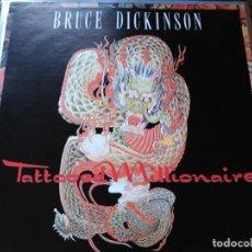 Discos de vinilo: MAXI SINGLE BRUCE DICKINSON - TATTOOED MILLIONAIRE - POSTER SLEEVE EMI UK 1990. Lote 78181617