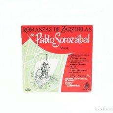 Discos de vinilo: EP ROMANZAS DE ZARZUELAS DE PABLO SOROZÁBAL VOL. 2. ESPAÑA. HISPAVOX. (NM-/VG+). Lote 78186241
