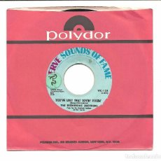 Discos de vinilo: SINGLE - THE RIGHTEOUS BROTHERS-YOU'VE LOST THAT LOVIN' FEELIN/GEORGIA ON MY MIND-VERVE RECORDS 1968. Lote 78189581