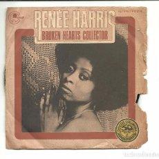 Discos de vinilo: SINGLE - RENEE HARRIS - BROKEN HEARTS COLLECTOR / ON HEAVEN'S DOOR - CARNABY 1977 PROMO. Lote 78191613