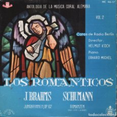 Discos de vinilo: LOS ROMANTICOS VOL. 2 / J. BRAHMS / SCHUMANN / EP HISPAVOX DE 1961 RF-1860. Lote 78211329