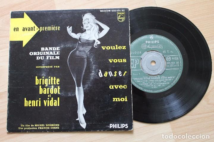 BRIGITTE BARDOT ET HENRI VIDAL VOULEZ VOUS DANSER AVEC MOI EP BANDA ORIGINAL (Música - Discos de Vinilo - EPs - Bandas Sonoras y Actores)