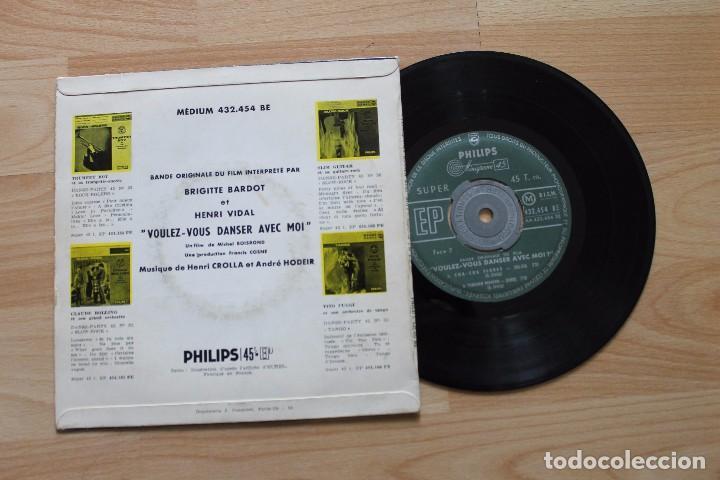 Discos de vinilo: BRIGITTE BARDOT ET HENRI VIDAL VOULEZ VOUS DANSER AVEC MOI EP BANDA ORIGINAL - Foto 2 - 78234193