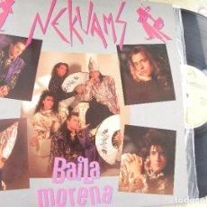 Discos de vinilo: NEKUAMS - BAILA MORENA - MAXI 1990 -BUEN ESTADO. Lote 78252753