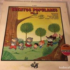Discos de vinilo: DISCO LP CUENTOS POPULARES. Lote 78280197