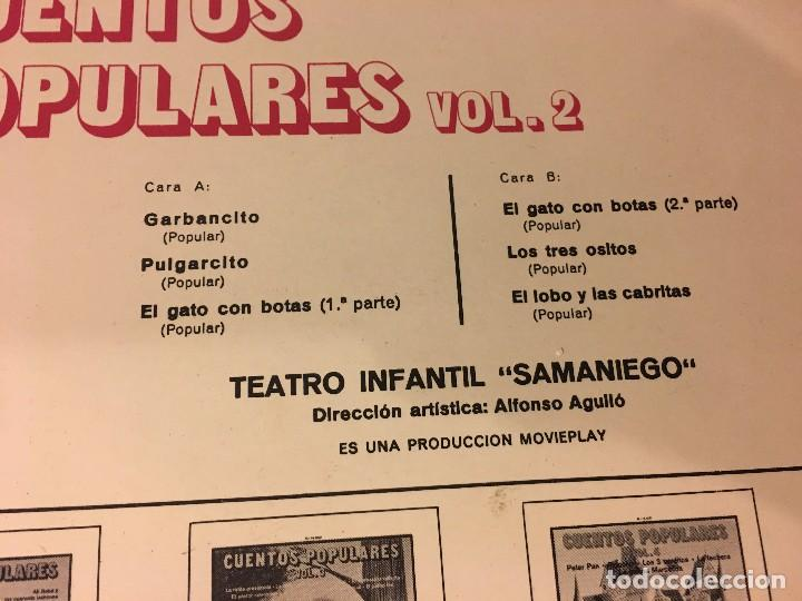 Discos de vinilo: DISCO LP CUENTOS POPULARES - Foto 3 - 78280197