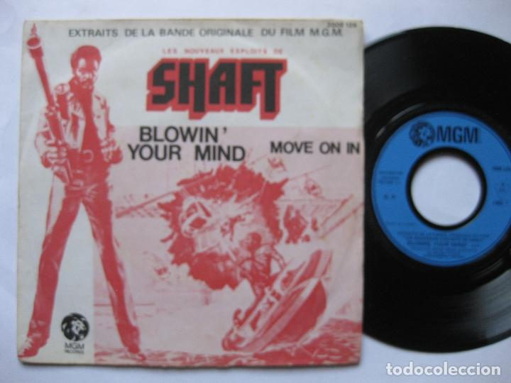 SHAFT - OST LES NOUVEAUX EXPLOITS - EX+ * MOVE ON IN / BLOWIN' YOUR MIND * 45 FRANCIA (Música - Discos - Singles Vinilo - Bandas Sonoras y Actores)