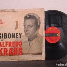 Discos de vinilo: SIBONEY BY ALFREDO KRAUS JURAME ISLAS CANARIAS LAMENTO GITANO LP T89 G. Lote 78285153