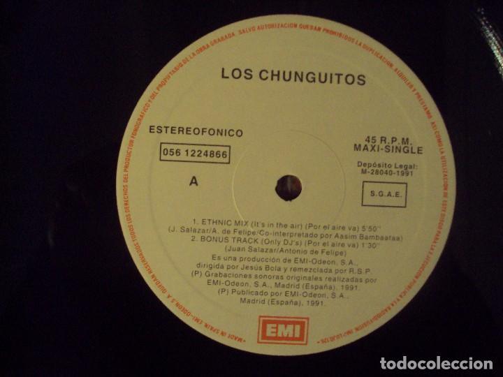 Discos de vinilo: LOS CHUNGUITOS + AFRIKA BAMBAATAA, ETHNIC MIX, MAXI-SINGLE EDICION ESPAÑOLA 1991 EMI-ODEON - Foto 5 - 78312241