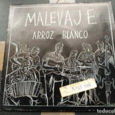 Discos de vinilo: SINGLE PROMO MALEVAJE - ARROZ BLANCO - 3 CIPRESES SPAIN 1987 VG+. Lote 78367985