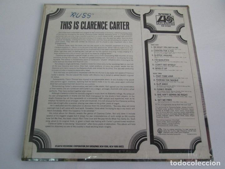 Discos de vinilo: THIS IS CLARENCE CARTER. DISCO DE VINILO. ATLANTIC RECORDS. 1968. VER FOTOGRAFIAS ADJUNTAS - Foto 6 - 78386357