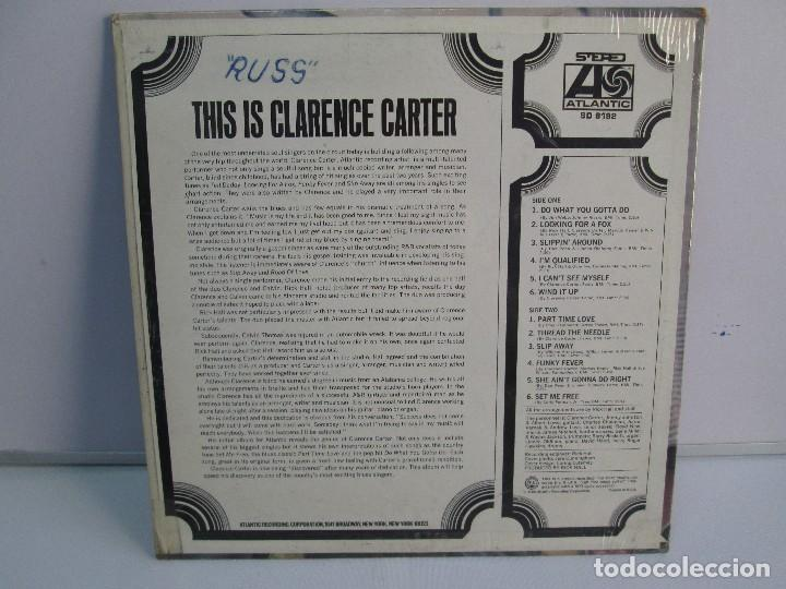 Discos de vinilo: THIS IS CLARENCE CARTER. DISCO DE VINILO. ATLANTIC RECORDS. 1968. VER FOTOGRAFIAS ADJUNTAS - Foto 7 - 78386357
